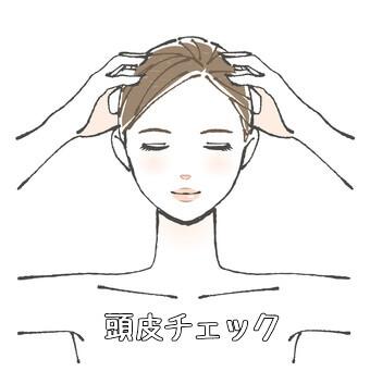 頭皮チェック方法